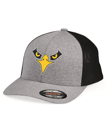 Lakeville Junior Falcon Silver/Black Trucker Cap