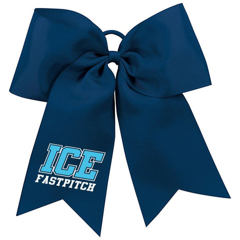 Ice Fastpitch Hair Bow