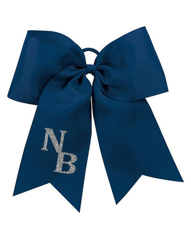 Navy NB Broncos Cheer Bow