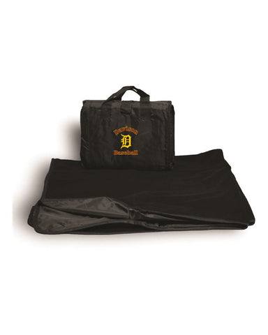 Davison Baseball Embroidered Fleece Blanket
