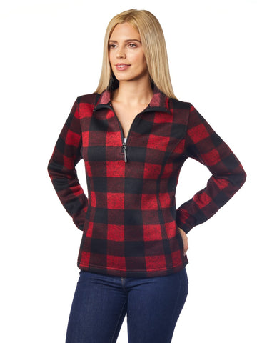 KODIAK Ladies Plaid Quarter Zip