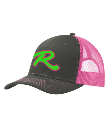 Renegades Puff Embroidered Adjustable Snapback Neon Pink Cap