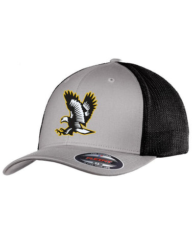 Fitted Lakeville Falcon Silver/Black Trucker Cap