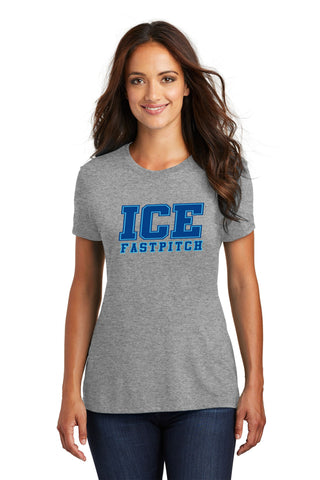 Ice Fastpitch Ladies Triblend T-shirt