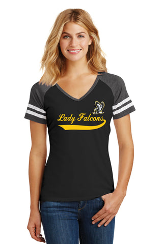 Lady Falcons Softball Women's Game V-Neck Tee