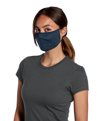Shaped Face Mask - Heather Navy