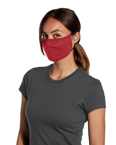 Shaped Face Mask - Heather Red