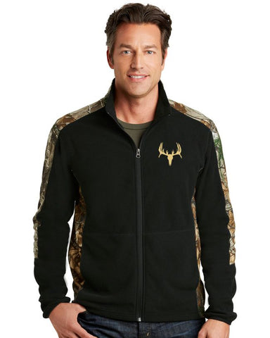 Men's Camouflage Microfleece Full-Zip Jacket
