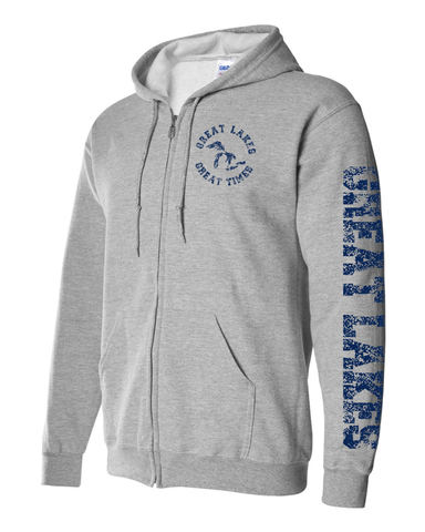 Great Lakes Great Times Full Zip Adult Hoodie