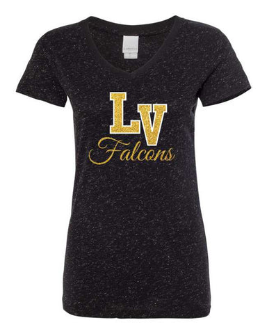 Falcons Glitter-on-Glitter Ladies T-shirt