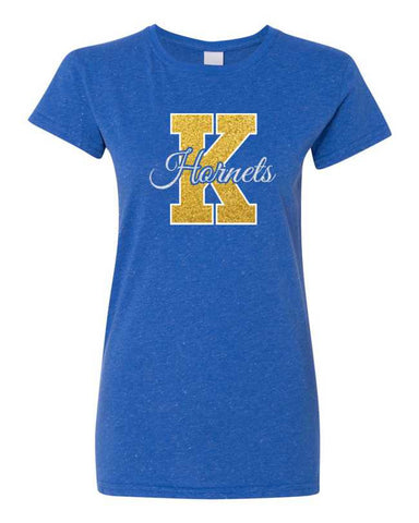 "Kearsley ""K"" Glitter-on-Glitter Ladies T-shirt"