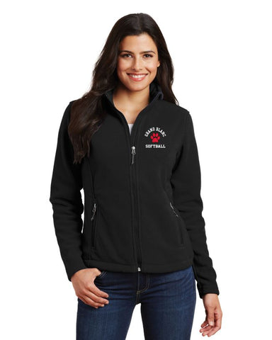 Grand Blanc Softball Fleece Full Zip Jacket