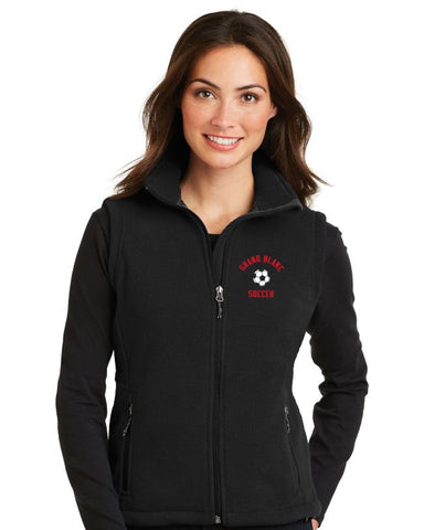 GB Soccer Ladies Fleece Full Zip Vest