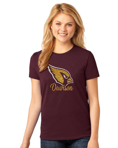Glitter Ladies Davison Cardinals T-shirt