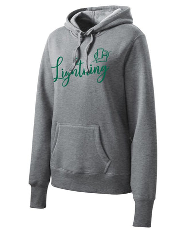 Ladies Script Lapeer Hooded Sweatshirt