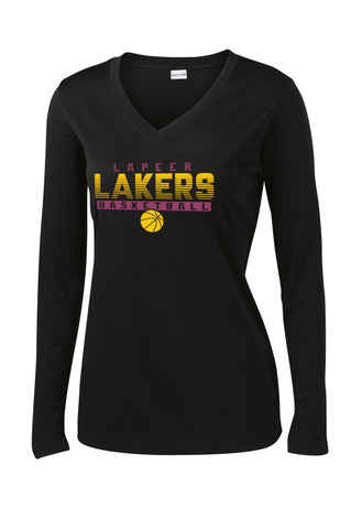 Ladies Lapeer Lakers Basketball Long Sleeve Performance Shirt