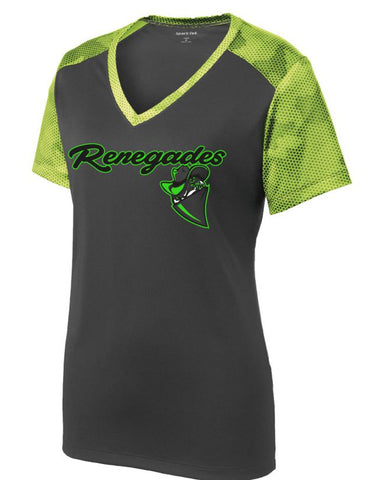 Renegades Ladies CamoHex Colorblock Tee