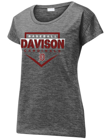 Davison Baseball Ladies Electric Tee