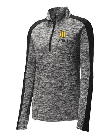 Mott Baseball Ladies Lightweight Electric 1/4-Zip Pullover