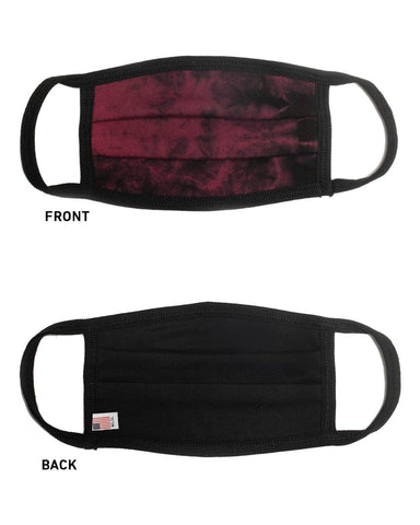 Maverick USA Made Comfort Face Mask - Maroon Tie Dye