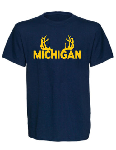 Unisex Michigan Antler Tee