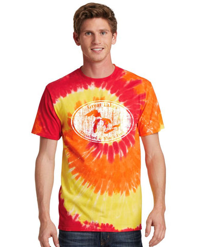 "Unsalted & Shark Free ""Fire"" Tie Dye T-Shirt"