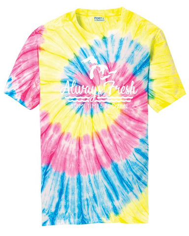 Always Fresh, Sometimes Frozen Neon Tie Dye T-Shirt