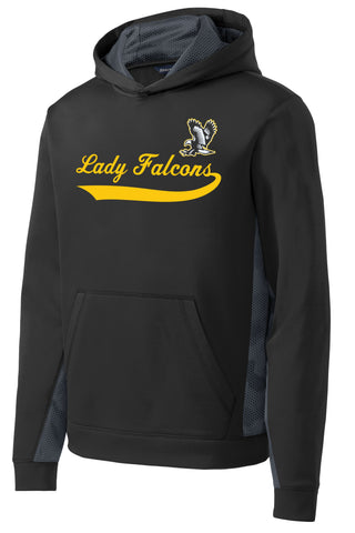 Lady Falcons CamoHex Fleece Colorblock Hooded Pullover
