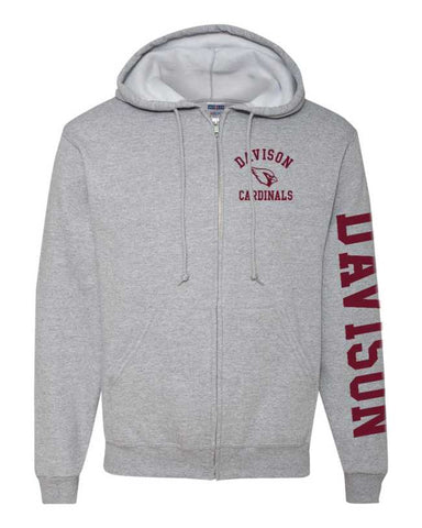 Davison Cardinals Full Zip Jacket