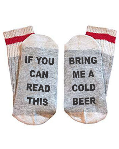 "If You Can Read This ""Beer"" Socks"