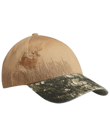 Deer Embroidered Camouflage Cap