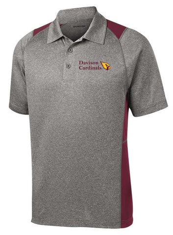 Davison Cardinals Color Block Polo