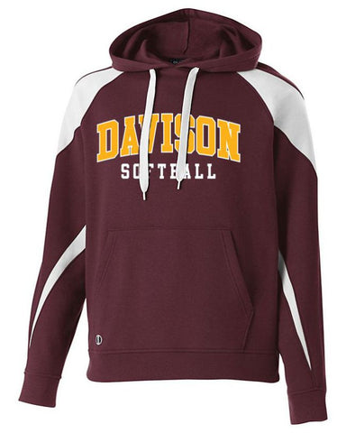 Davison Softball Applique Prospect Hoodie