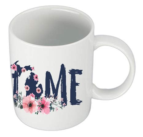 Michigan Home Floral Mug
