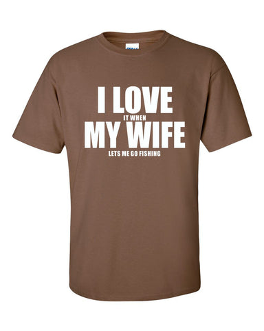 I Love My Wife (Fishing) T-shirt