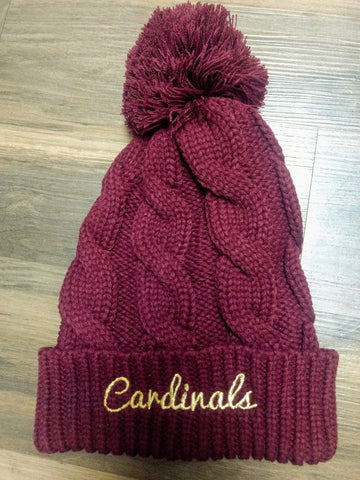 Cardinals Chunk Twist Knit Beanie With Cuff