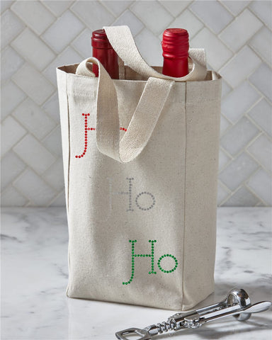 Christmas Double Wine Tote