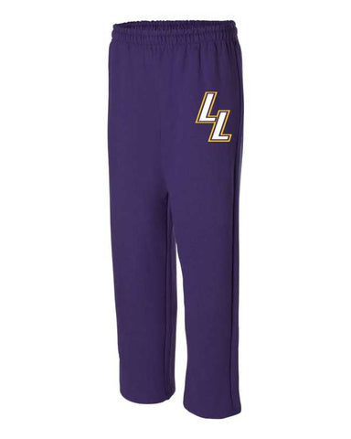 Purple Lapeer Lakers Open Bottom Pants
