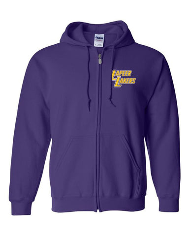 Purple Lakers Hooded Full Zip Jacket