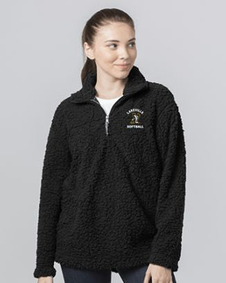 Lakeville Softball Black Sherpa 1/4 Zip Pullover