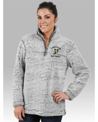 Lakeville Softball Grey Sherpa 1/4 Zip Pullover