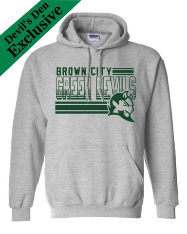 "Brown City ""Lines"" Basic Hoodie"
