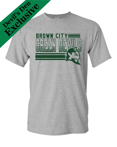 "Brown City ""Lines"" Basic T-shirt"