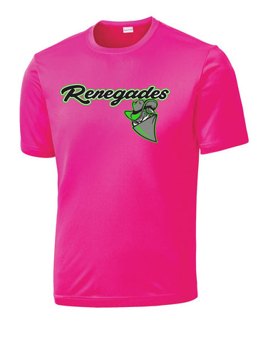 Pink Mid Michgian Renegades Performance Short Sleeve Shirt