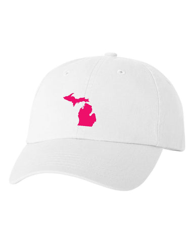 Michigan White State Adjustable Hat