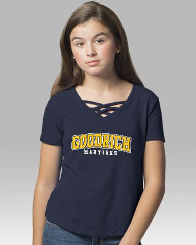 Girls Caged Front Goodrich Martians Tee