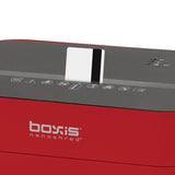Boxis® NanoShred® BN101P-RED 10 Sheet Nanocut® Shredder - Red<br> THE NEXT EVOLUTION OF PAPER SHREDDERS