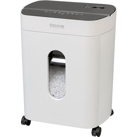 Boxis® NanoShred® BN101P-WHT 10 Sheet Nanocut® Shredder - White<br> THE NEXT EVOLUTION OF PAPER SHREDDERS