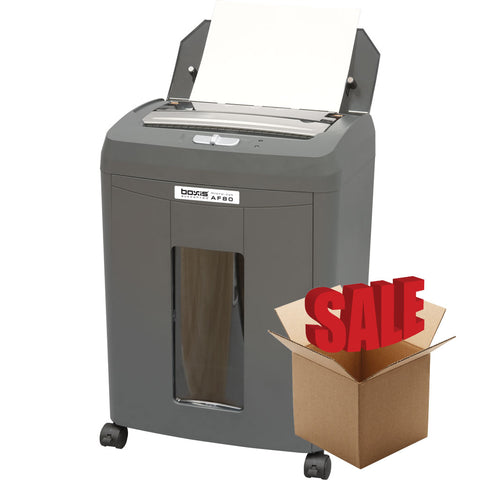 Boxis® AutoShred® 80 Sheet Autofeed Microcut Shredder AF80-R OPEN BOX