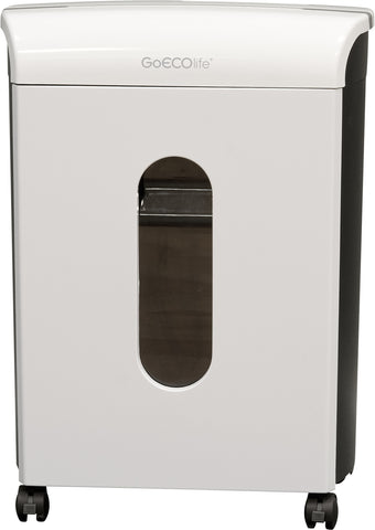 Black GoECOlife GMW124P-BLK Limited Edition 12-Sheet High Security Microcut Paper Shredder